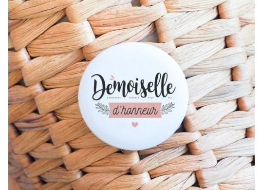 Badge demoiselle d'honneur