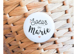 Badge Sœur du marié