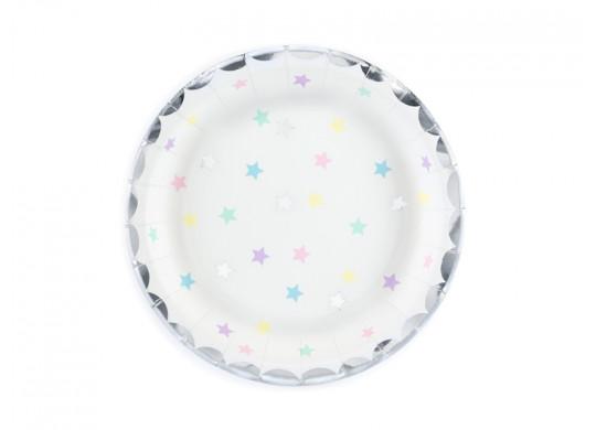 Assiettes étoiles multico/irisées