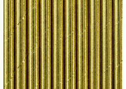 Paille en carton or