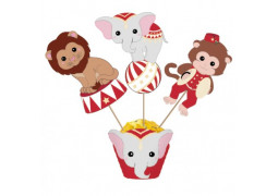 Cake topper Vintage circus