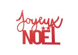Lettres Joyeux Noël rouge