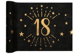 """Chemin de table anniversaire étincelant """"18"""" noir"""