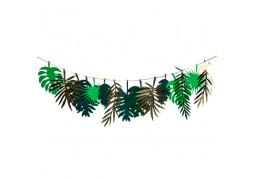 Guirlande feuilles tropicales vert/or