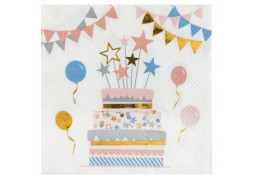 20 serviettes kitty party anniversaire