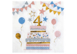 "20 serviettes kitty party anniversaire ""4"""