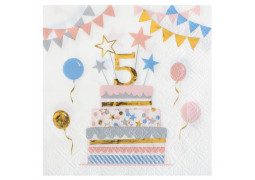 "20 serviettes kitty party anniversaire ""5"""