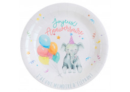 10 assiettes anniversaire zoo party