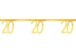 """Guirlande âge métal or """"20"""""""