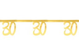 """Guirlande âge métal or """"30"""""""