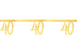 """Guirlande âge métal or """"40"""""""