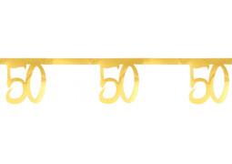 """Guirlande âge métal or """"50"""""""