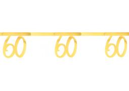 """Guirlande âge métal or """"60"""""""