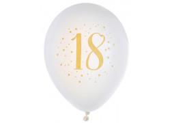 "Ballons joyeux anniversaire métal or ""18"""