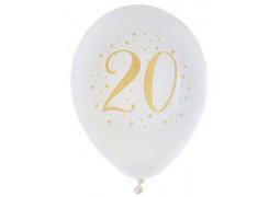 "Ballons joyeux anniversaire métal or ""20"""