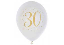 "Ballons joyeux anniversaire métal or ""30"""