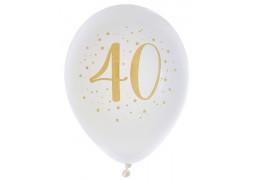 "Ballons joyeux anniversaire métal or ""40"""