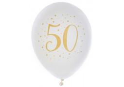 "Ballons joyeux anniversaire métal or ""50"""