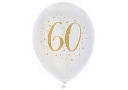 "Ballons joyeux anniversaire métal or ""60"""