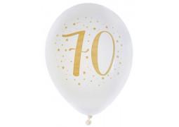"Ballons joyeux anniversaire métal or ""70"""
