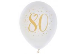 "Ballons joyeux anniversaire métal or ""80"""