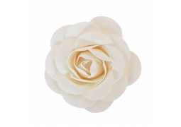 Rose en satin blanc 8cm
