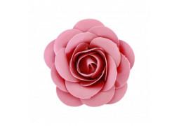 Rose en satin fuschia 8cm