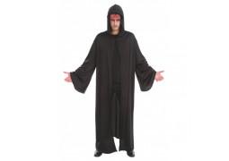 Cape adulte tissu noire prêtre satanique