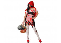 Costume femme chaperon rouge zombie