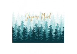 Chemin de table forêt sapin Joyeux Noël