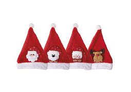 Bonnet de Père Noël enfant peluche