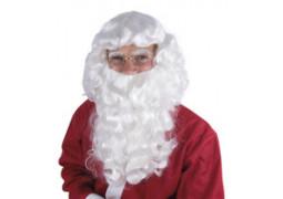 Perruque et barbe de Père Noël