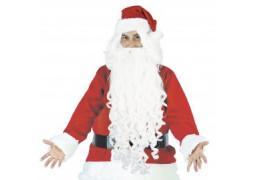 Perruque et barbe de Père Noël extra longue