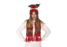 Set de Noël renne rouge