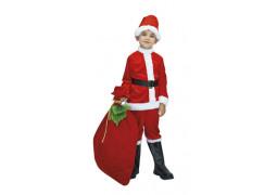 Costume enfant Père Noël velours