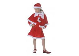 Costume enfant fille Mère Noël velours