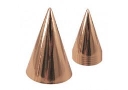 6 chapeaux pointus rose gold