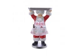 Père Noël cuisinier avec plateau
