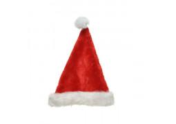 Bonnet de Père Noël velours rouge