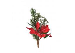 Pic décoratif poinsettia rouge