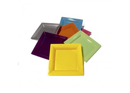 Assiettes carrées grand modèle 30.50 cm