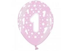 Ballon anniversaire rose 1 an