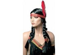 Perruque indienne avec tresses