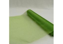 Chemin de table organdi vert lime