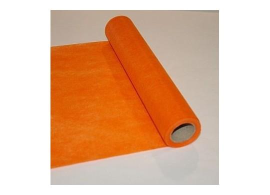 Chemin de table intiss conomique orange - Chemin de table orange ...