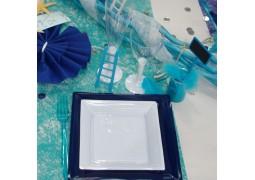 Chemin de table Romance turquoise