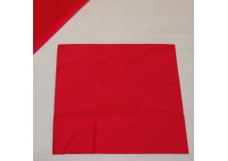 Serviettes papier rouges