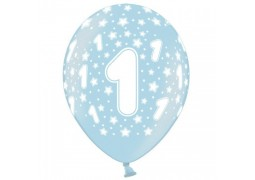 Ballon anniversaire 1 an BLEU