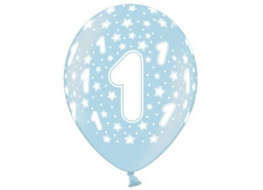 Ballon Anniversaire Bleu 1 An Article De Fête