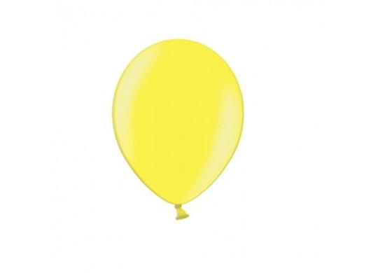 Ballon uni 27 cm standard jaune passion